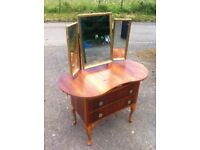 Stunning wee vintage two drawer dressing table