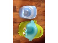 Fisher Price Frog Potty and Boots Blue Potty