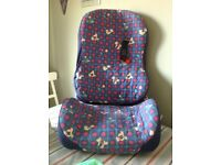 Lightweight child's booster seat with back rest.