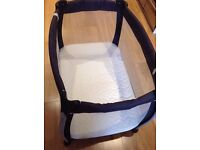 """Mamas and papas """"Sleep"""" Travel cot - good condition - with extras"""