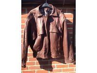 leather bomber jacket XL
