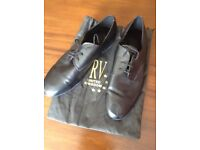 Mens ballroom black leather shoes size 11