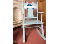 Child's upcycled wooden rocking chair