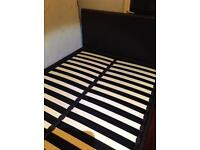 Double bed with under bed storage..