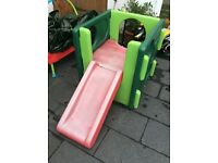 Outdoor Slide and Gym