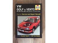 VW Golf & Vento 1992 - 98 Haynes manual