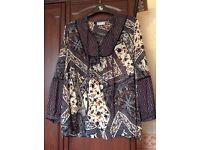 Wallis large (euro 46 size) chiffon gypsy style dress top