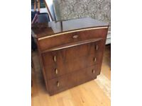 Vintage 1950s Small Chest of Drawers