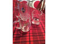 3 Collectors drinking glasses