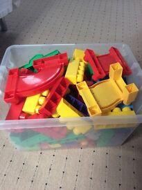 A big box of Mega Blocks