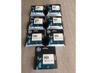 HP 901 Ink Cartridges 2 x black and 5 colour