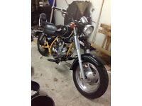 Lexmoto jinlun texan 125 twin cruiser project, ready for mot , 2010 only 850 miles