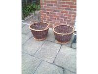 Two wicker baskets