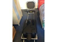 Folding Pilates Reformer Machine excellent condition only used once.