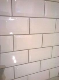 Mini Metro brick tiles - White 150 x 75mm (two boxes 1.3m2 total)