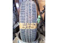 165-70-14 Event 81T 5mm Part Worn Tyre