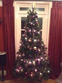 7ft fake Christmas tree