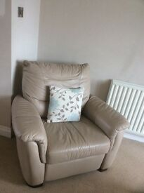 Leather armchair with recliner for sale