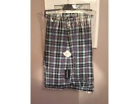 46L Golf Trousers - Stromberg - Funky light blue/lilac Check - BNWT