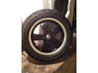 Vespa gts front wheel and tyre Matt blk