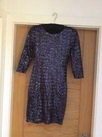 Sequinned party mini dress