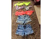 Girls bikinis and shorts