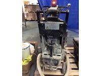 Heavy duty floor grinder for surface preparation.