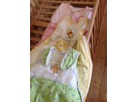 Winnie the Pooh theme cot bed bedding bundle incl BNWT sheets - suitable for boy or girl