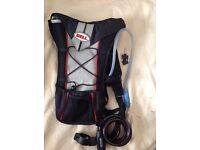 Bell hydration backpack and Metalok bike cable lock