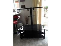 Black glass 3 tier tv stand up to 55 inch tv