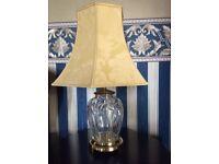 Large cut crystal lamp