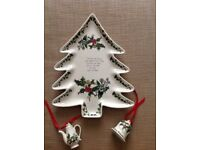 Portmeirion Holly and Ivy Pottery Christmas Tree