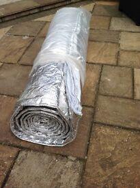 Foil backed insulation blanket,