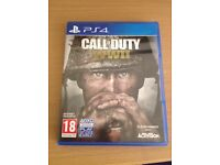 Ps4 game Call of duty WW2 excellent condition