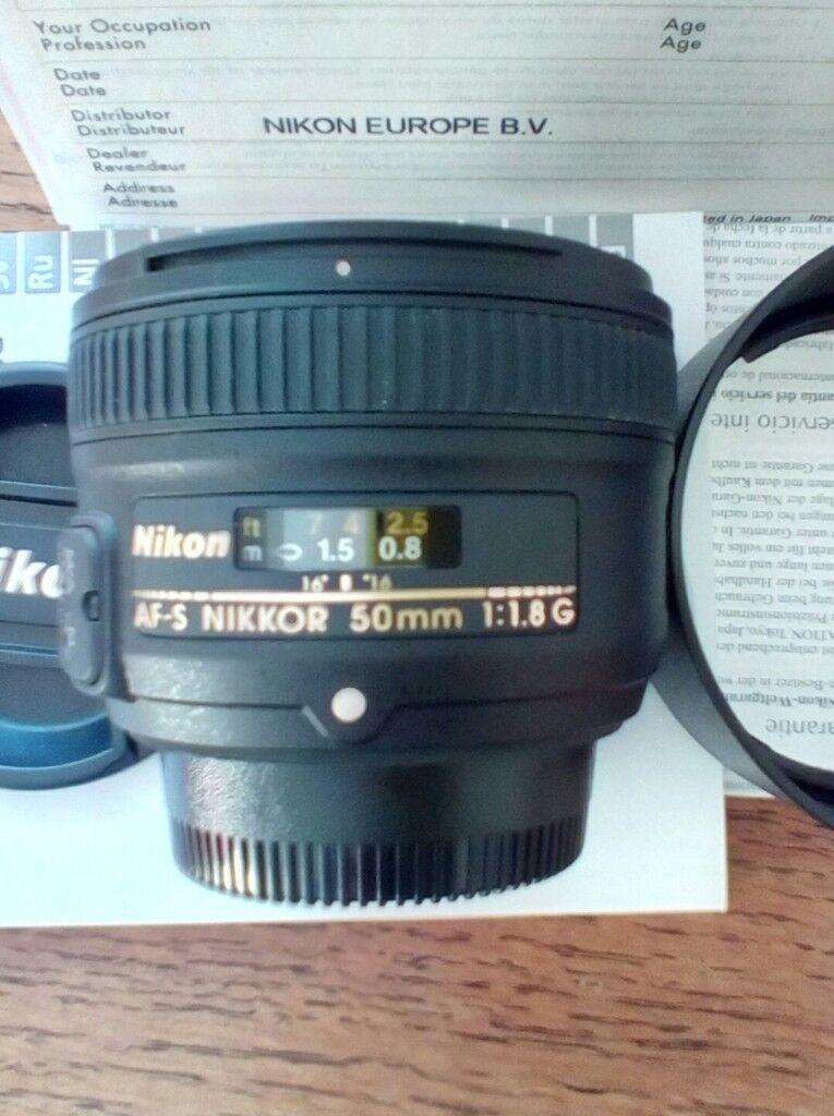 Nikon af-s nikkor 50mm f 1.8 G lens