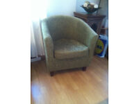 TUB CHAIR (Green) in good condition