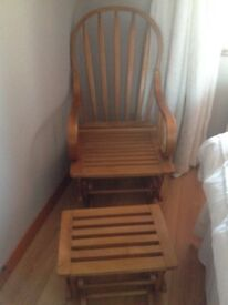 Rocking chair/glider and footstool