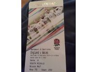 England v wales tickets x 2