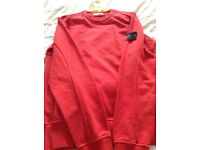Red stone island men's jumper
