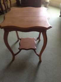 Old satin wood occasional table