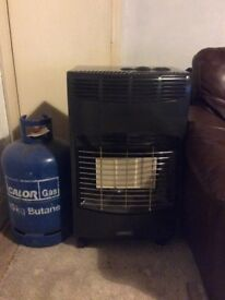 Portable Heater and 2 calor gas bottles