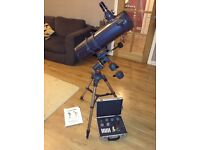 Telescope - Celestron Astromaster 130 EQ with eyepiece and filter accessory kit