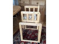 Solid wood high chair/table and chair for toddler.