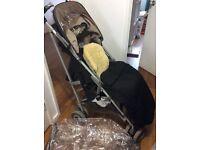 Maclaren Techno XLR stroller and accessories bundle - black/champagne