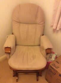 Nursery glider / rocking chair and footstool