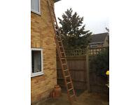 Wooden Extending Ladder.