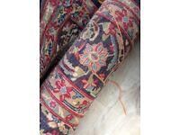 Enormous vintage woven carpet 3x4 m