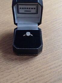 Stunning platinum mounted diamond solitaire ring.