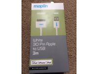 Apple compatible extra long charging lead
