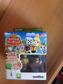 Animal crossing with 2 amiibo figures Nintendo Wii U